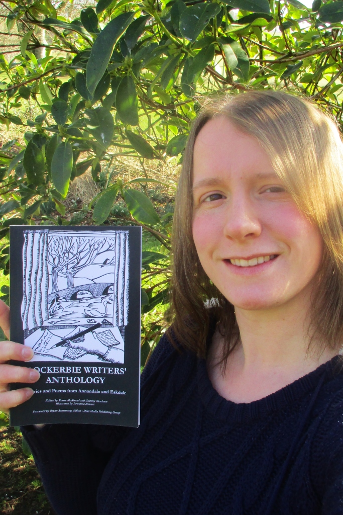 17-03-15 Me with the proof copy of the anthology